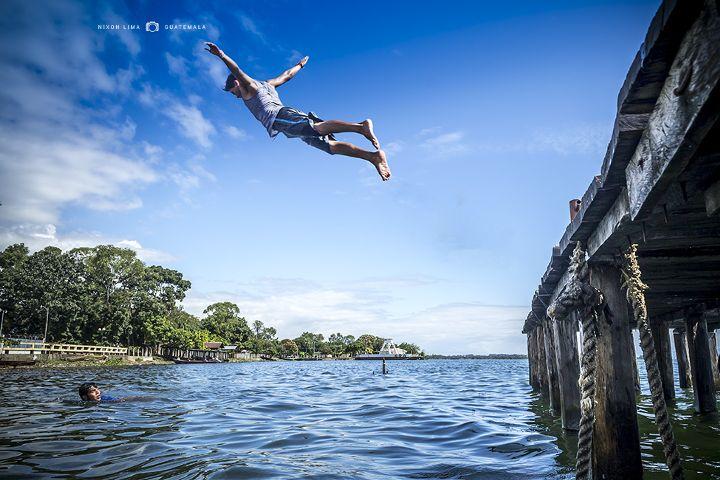 beach,flight,guatemala,lake,people