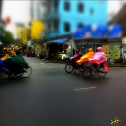 rain bike street hu vietnam