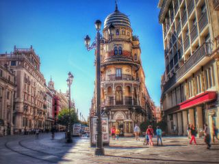 city hdr photography travel vintage