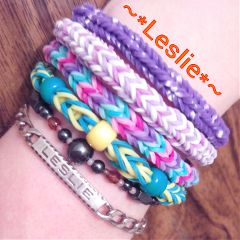lesliecreation color splash colorful photography bracelet loom