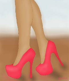 fashion heels hotpink drawing girly