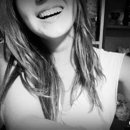 smile blackandwhite cute girl me