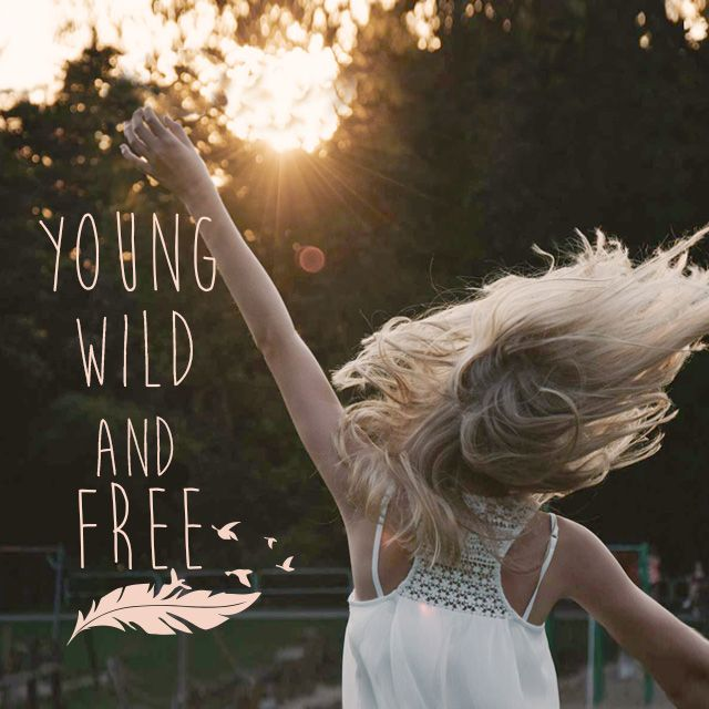 young wild and free clipart