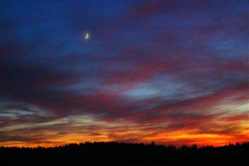 night sunset moon qualliii