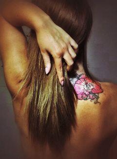 people tattoo flower nature