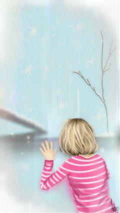 art drawing people dcsnowflake winter