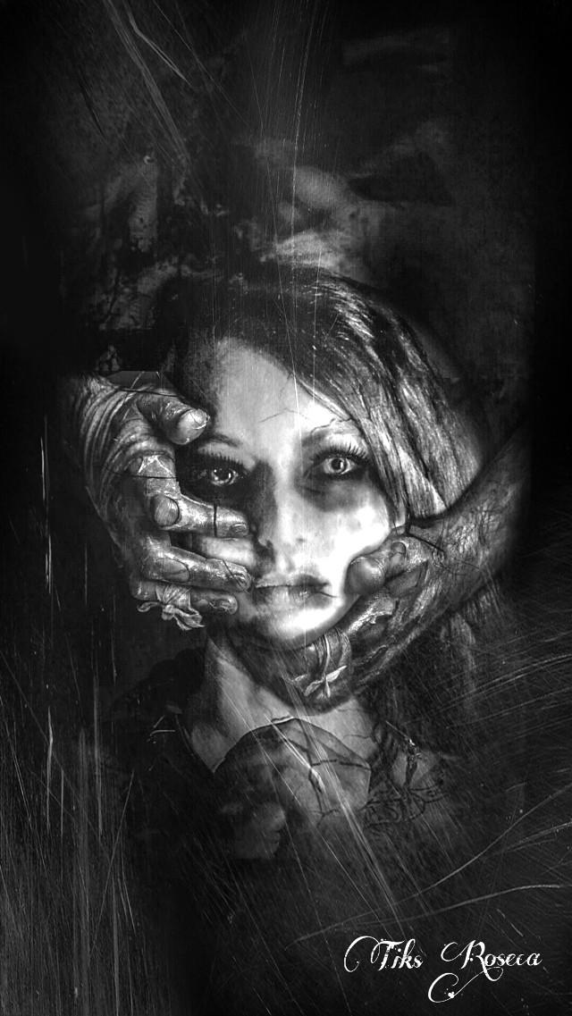 -Trapped!- For my dear @rhea07  #darkart #art #artisticselfie #undefined