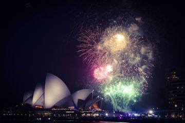 australia sydney opera happy firework